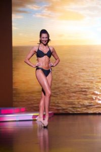 Miss Provo, Madison Monson modeling in swimsuit. (Photo by Emily Lesher)